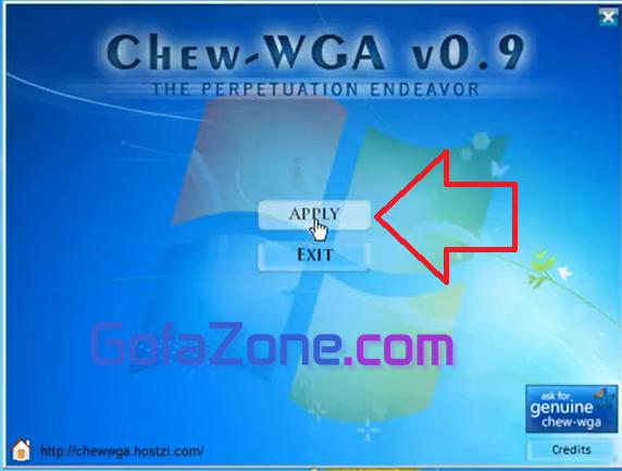 crack win 7 bằng Chew Wga v0.9